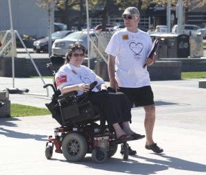 Michelle and Ian at the MS Walk